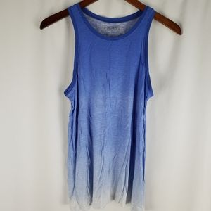 Mudd White Blue Ombre Tank Top S